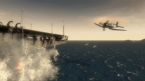 Fly WWII airplanes and use Kamikaze tactics to wipe out enemies.