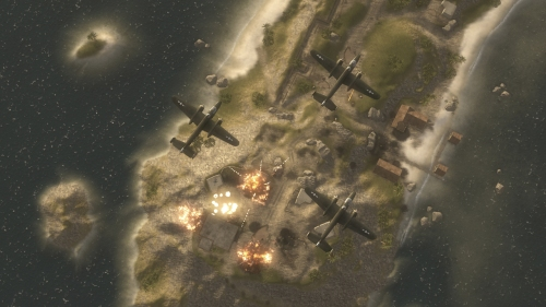 Combine air, sea, and land forces to take control of Iwo Jima.
