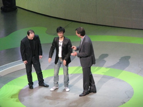 Mattrick tells Kojima that his game completes Microsoft. Creepy!