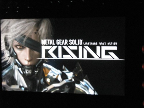 "The Xbox 360 finally gets its very own, original Kojima game, Metal Gear Solid Rising; ""Raiden is back,"" according to Kojima."